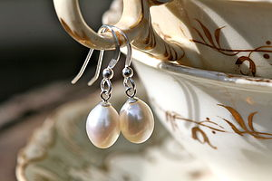 Drop In The Ocean Pearl Drop Earrings