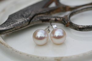Drop In The Ocean 8mm Pearl Stud Earrings - birthstone jewellery gifts