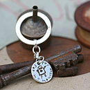 Personalised Scribbles Coin Keyring