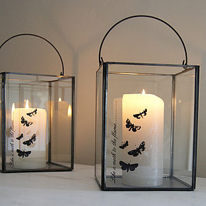 'Like A Moth To The Flame' Lantern - candles & candlesticks