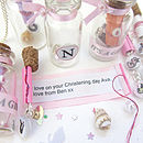 Baby & Girl Bottle Message Keepsake Necklace