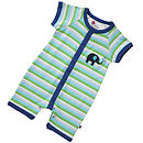 Boy's Short Sleeve Stripy Playsuit
