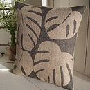 Rustic Chic Leaf Print Cushion