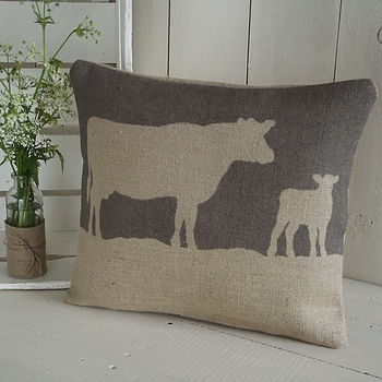 Rustic Cow Cushion