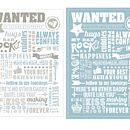 'Wanted By Daddies Everywhere' Print