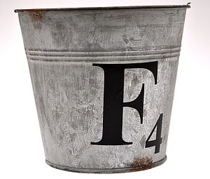 Galvanised Letter Tile Style Bucket - home & garden gifts
