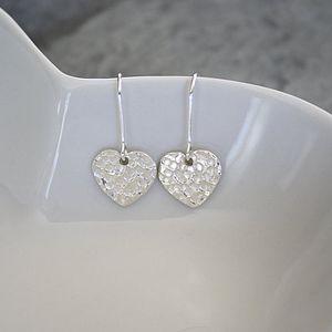 Heart Sterling Silver Earrings - earrings