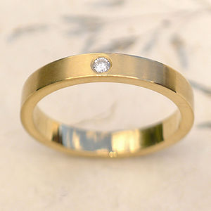 Handmade Diamond 18ct Gold Wedding Ring - rings