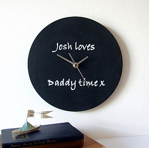 'Daddy Time' Blackboard Clock