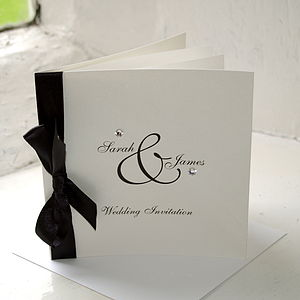 Diamante Wedding Stationery Collection - invitations