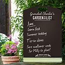 Personalised Garden Chalkboard