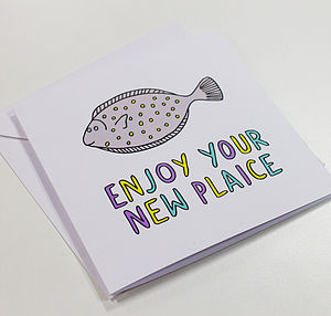 'Enjoy Your New Plaice' New Home Card