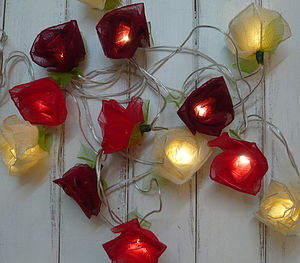Cabbage Rose Fairy Lights - fairy lights & string lights