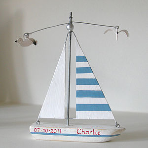 Personalised Birthday Boat - children's room accessories