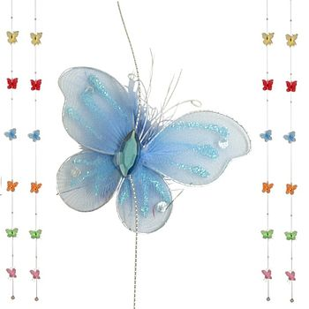 Fabric Butterfly Garland
