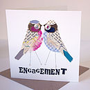 Personalised Love Bird 'Engagement' Card