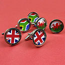 Personalised Country Flag Cufflinks