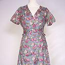 Tea dress in old rose grey