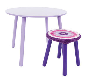 Child's Wooden Table And Stool Set