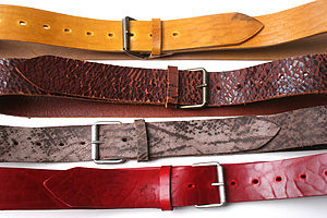 Vintaged Reuben Leather Belt - women's accessories