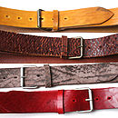 Vintaged Reuben Leather Belt