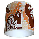 Vintage Wallpaper Lampshade 70s Forest