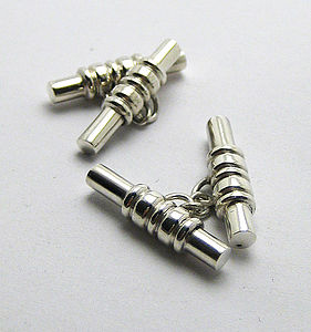 Cricket Bail Cufflinks - men's jewellery