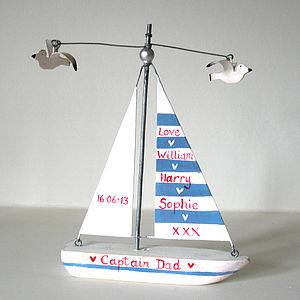 Fathers Day Sailing Boat - baby & child