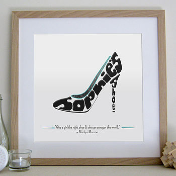 Personalised Stiletto Print