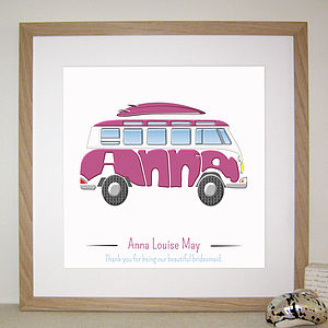 Personalised Campervan Print - pictures & prints for children