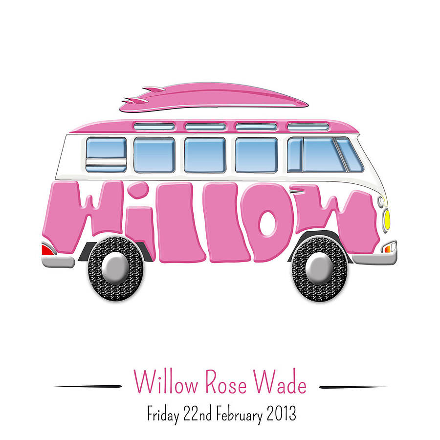 Personalised Campervan Print By Name Art