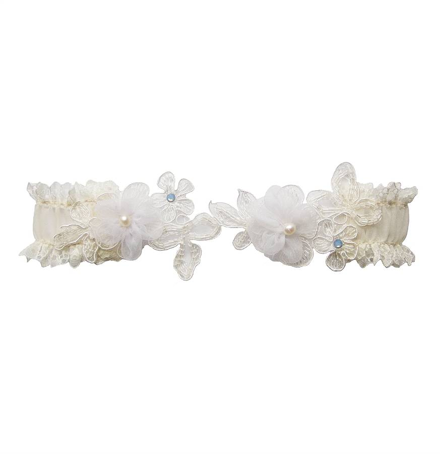 Lace Wedding Garters: Freya Lace Wedding Garter By Chez Bec