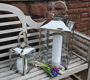 Rope Handle Lantern - lights & lanterns