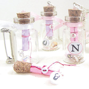 Baby & Girl Keepsake Bottle Message Brooch - home & garden