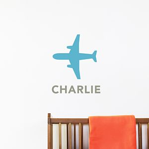 Personalised Aeroplane Wall Sticker - painting & decorating