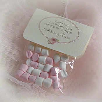 Personalised Vintage Rose Wedding Favour Bags
