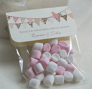 Personalised Bunting Wedding Favour Bags - wedding favours