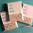'Just Add Cake' Handmade Party Invitations