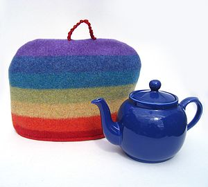 Rainbow Wool Tea Cosy