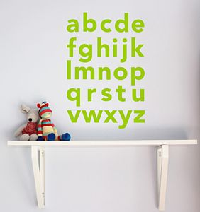Alphabet Wall Sticker - wall stickers