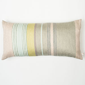 Mistley Stripe Woven Cushion Cover - bedroom