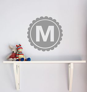 Personalised Letter Monogram Wall Sticker - wall stickers