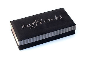 21 Piece Cufflink Box - cufflink boxes