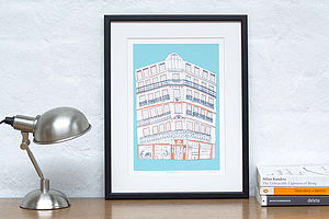 Downtown Paris Screen Print - graphic art prints