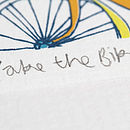 Take the Bike screen print detail