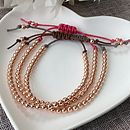 Rose Gold Filled Friendship Bracelet