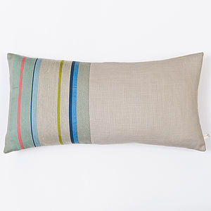 Aldeburgh Stripe Woven Cushion Cover - cushions