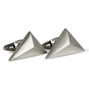 Pyramid Cufflinks - men's jewellery