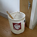 Thumb recycled sailcloth waste bin