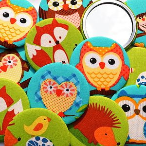 Set Of Woodland Creatures Party Bag Mirrors